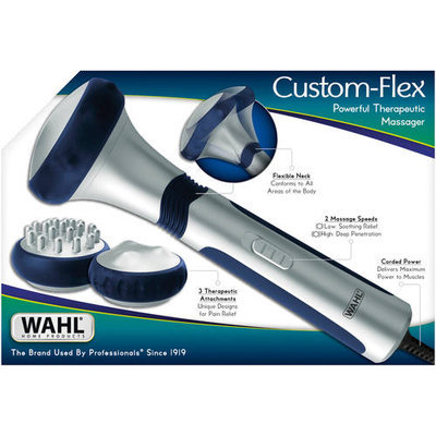 Wahl - Custom Flex Therapeutic Massager - Silver/blue