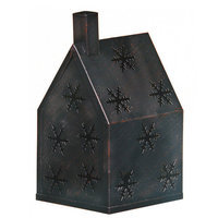 Oddity 79359 3 in. x 6.5 Metal T-Lite House with Snowflakes - Pack of 3