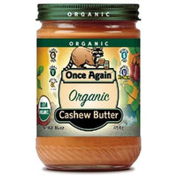 Once Again Natural Cashew Butter 16 oz