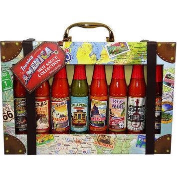 Global Travel Trunk Hot Sauce Gift Set