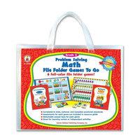 CARSON-DELLOSA PUBLISHING 140032 Problem Solving Math Game w/ 6 Games Grade 2