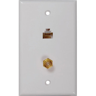 Rca Tph557r Cat 5/6 F & Coaxial Connector Wall Plate