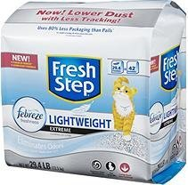Fresh Step Lightweight Extreme Cat Litter, Scented (29.4 lb.)
