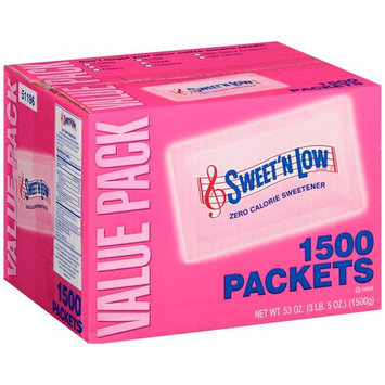 Sweet'N Low Brand Zero Calorie Sweetener, 1500 count, 53 oz