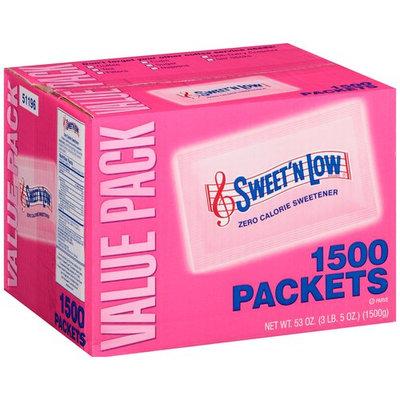Sweet'N Low Brand Zero Calorie Sweetener, 1500 count, 53 oz