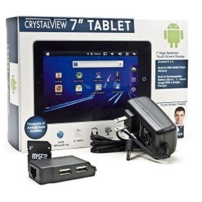 CrystalView 7 Tablet - Google Android V 2.3