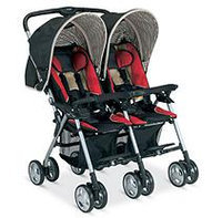 Combi International Combi Twin Savvy E Stroller - Red Chevron