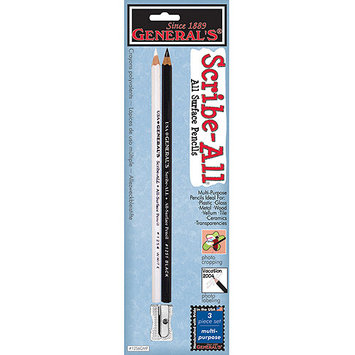 General Pencil Company General Pencil 1256GMP Scribe-All Pencils & Sharpener 2/Pkg