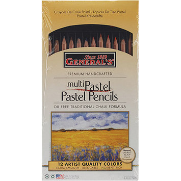 General Pencil Company Inc Pastel Chalk Pencils 12/Set W/Sharpener