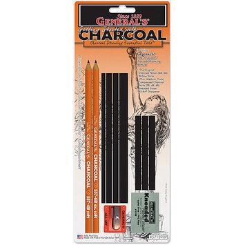 General Pencil Company GENERAL PENCIL Charcoal Drawing Essentials Tool Kit
