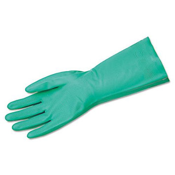 Memphis Glove Size 10 Green Flock Lined Nitrile Gloves 18mi