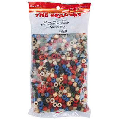 Wmu Pony Beads 6x9mm 900/Pkg-Frosted Multi