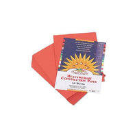 Pacon SunWorks Construction Paper, 58 lbs, 12 x 18, Red-Orange, 50