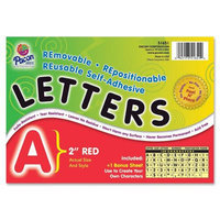 PACON CORPORATION PAC51651 2 SELF-ADHESIVE LETTERS RED
