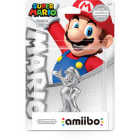 Nintendo Mario Amiibo -Silver Edition- Super Mario Bros Set