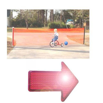 Kid Kusion 4725WREF Kid Safe 25 Foot Driveway Guard With Free LED Safety Reflector Light