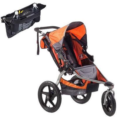 BOB ST1022KIT1 Revolution SE Single Stroller in Orange with Handlebar Console