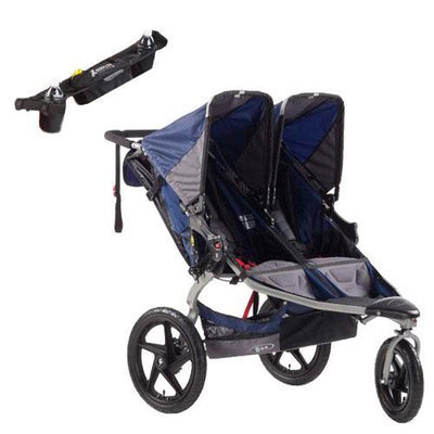 BOB ST1041KIT1 Revolution SE Duallie Stroller in Navy with Handlebar Console