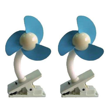 Dream Baby DreamBaby Stroller Fan 2 pack White Blue