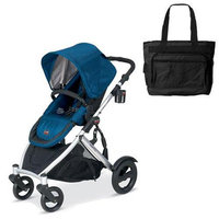 Britax U281767KIT2 B-Ready Stroller - Mediterranean with a Black Diaper Bag