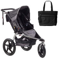 BOB ST1023 Revolution SE Single Stroller with Diaper Bag - Black