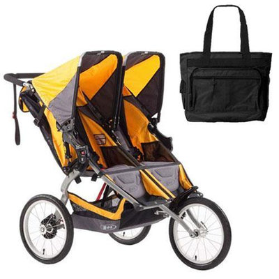 BOB ST1016 Ironman Duallie with Diaper Bag - Yellow