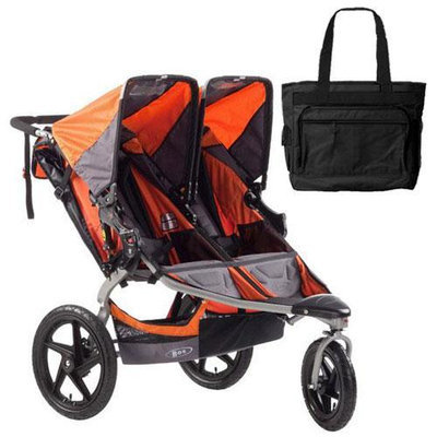 BOB ST1042 Revolution SE Duallie Stroller with Diaper Bag - Orange