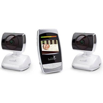 Summer Infant - Ultra Sight Pan Scan Zoom Video Monitor with Extra Camera