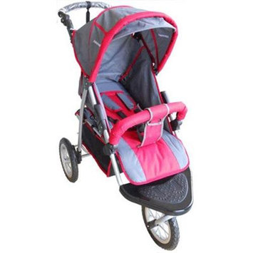 AmorosO 3571 Red and Grey Single Jogging Stroller