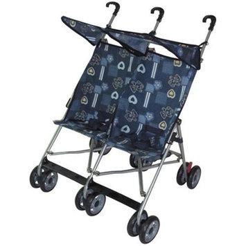 AmorosO 42702 Blue Twin Double Stroller