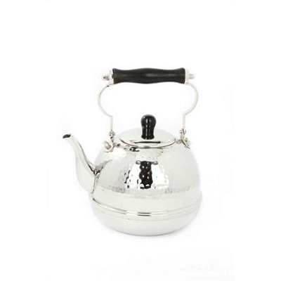 Old Dutch 618 Hammered Teakettle with Wood Handle 2 Qt.