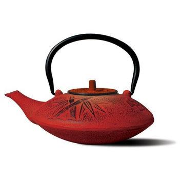 Old Dutch 37 oz. Cast Iron Sakura Teapot in Red 1010RD