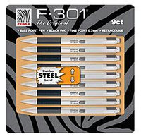 Zebra F-301 Ball Point Pens - 9 Pack