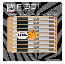 Zebra F-301 Ball Point Pens - 9 Pack