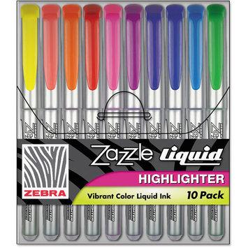 Zebra ZEB71111 Fluorescent Liquid Ink Highlighters Pack of 10