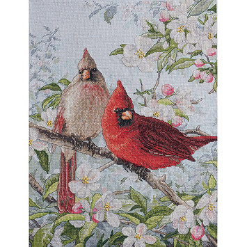 Bucilla Heirloom Collection Cardinals Counted Cross Stitch Kit