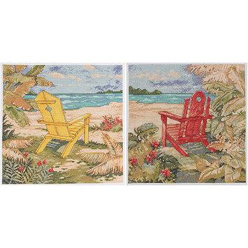 Bucilla Beach Chair Duo Counted Cross Stitch Kit 10