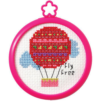 Bucilla My 1st Stitch Fly Free Mini Counted Cross Stitch Kit-3in Round 14 Count