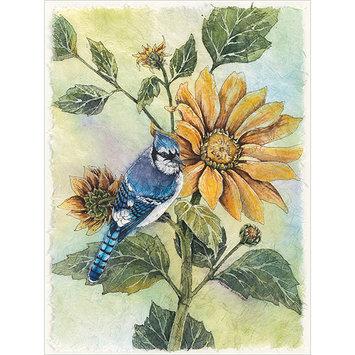 Bucilla Sunflower Bluejay Counted Cross Stitch Kit