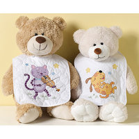 Bucilla Hey Diddle Diddle Bib Stamped Cross Stitch Kit - Set of 2