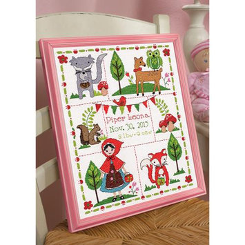 Bucilla Little Red Riding Hood Birth Record Counted Cross Stitch Kit 10inX13in 14 Count