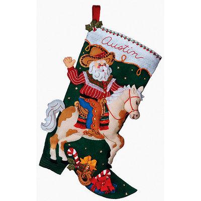 Cowboy Santa Stocking Felt Applique Kit