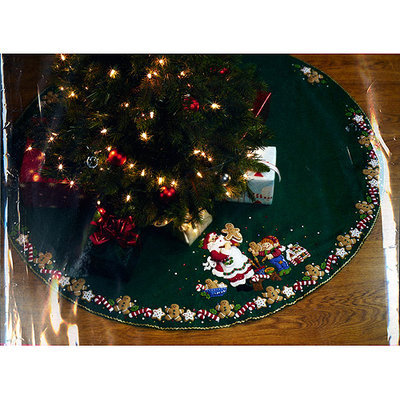 Bucilla Felt Tree Skirt Kit - Christmas Cookies Applique