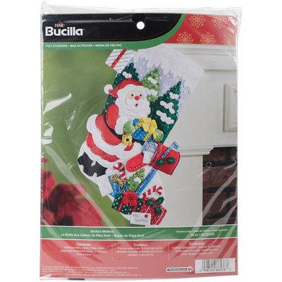 Bucilla Santa's Mailbox Stocking Felt Applique Kit18in Long