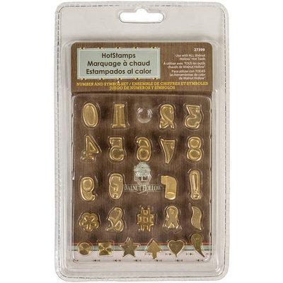 Walnut Hollow Hot Stamps Number & Symbol Set 24/Pkg