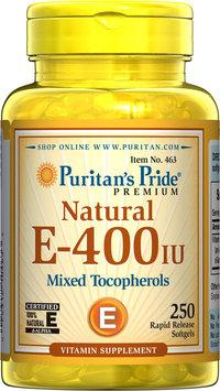 Puritan's Pride 2 Units of Vitamin E-400 iu Mixed Tocopherols Natural-250-Softgels