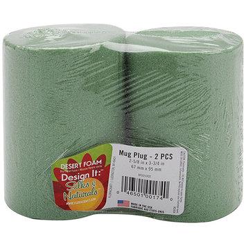 Floracraft 228733 Dry Foam Mug Inserts 2.63 in. x 3.75 in. 2PkgGreen