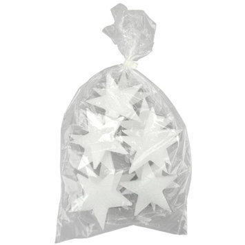 Floracraft Flora Craft S45W Styrofoam Stars 4X1/2 Case of- 12
