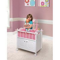 Doll Crib with Cabinet/Bedding/Mobile - Chevron Print