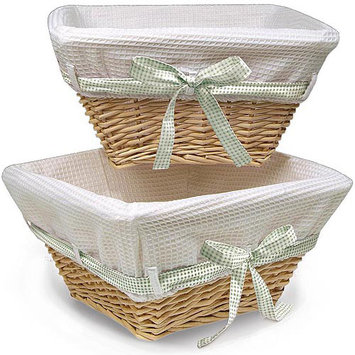 Badger Basket 0083N Wicker Baskets With Four Ribbons - 2 Pack